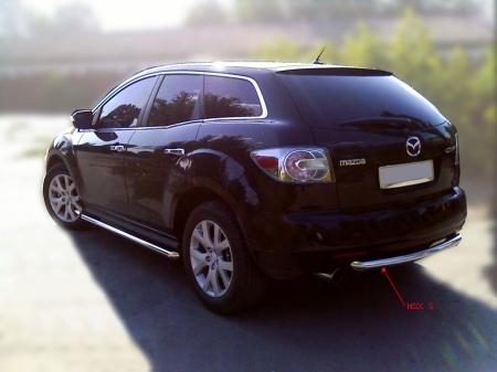 Mazda СX-7 2006-наст.вр.-Защита заднего бампера d-53 радиусная